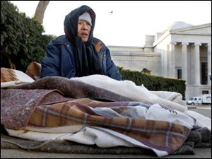 Nga Thi Buscall, 60, who camped out on Pennsylvania Avenue on Friday, will be required to leave the area by Monday night.