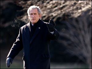 Outgoing President Bush pleads his achievements but leaves the White House with the United States in economic decline and fighting three wars - in Iraq, in Afghanistan, and against terrorism.