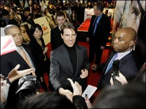 Tom Cruise greets fans in