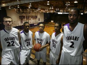 There s a whole new lineup this season at Waite, which lost all its starters from a 14-7 team to graduation. This year s starters are, from left,David Butte, Ke-Sean Harris, Darius Glover, Antonio Allen and Dishon Harris. Butte and Glover are the only seniors.