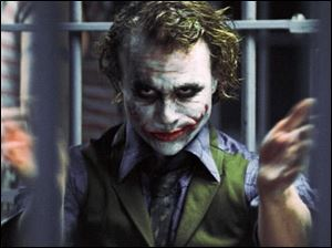 The late Heath Ledger in 'Dark Knight.'