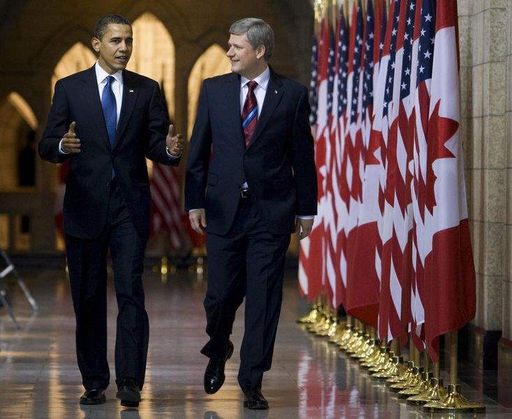 Stephen-Harper-Barack-Obama