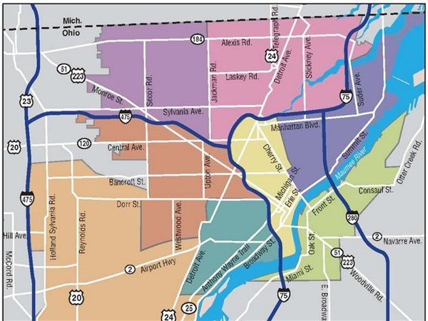 Toledo Police Department to redraw boundaries of districts