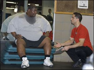 Terence Haynes weighed 429 pounds just more than a year ago. He described himself as living in denial about his weight.