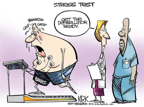 Image result for bank stress tests are a joke
