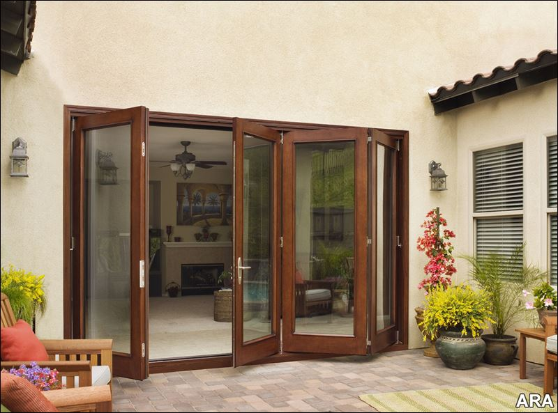 Folding doors accordion folding doors patio for Outdoor patio doors