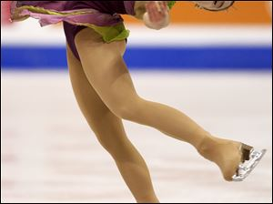 Bowling Green State University student Alissa Czisny skates in