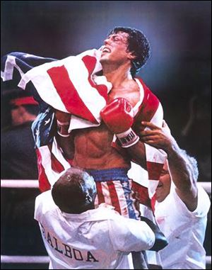Sylvester Stallone made famous the character Rocky Balboa, a boxer who doesn't give up.