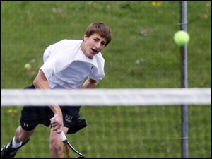 Ryan Jorgensen of St. John s won the City League singles title last season as a freshman. He lost in the Division I district semifinals.