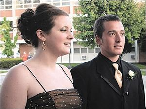Tyler Frost went to the Findlay High School prom with girlfriend Rebecca Smooty. There he was photographed holding hands with his date, which his own school, Heritage Christian, forbids, along with rock music and dancing. While he faces the consequences, Tyler said he 'had fun and nothing dumb or bad happened or anything.' The case is being likened to the movie 'Footloose.'