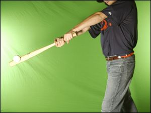 Photographs are taken in front of a green screen. Subjects later can visit a company Web site where they can download images for a fee. P&A estimates it sells between 50 and 100 photos from each game.