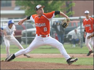 Southview's Kirk Stambaugh shut out Anthony Wayne on three hits yesterday at AW. He struck out six and walked none as the Cougars won the Northern Lakes League title.