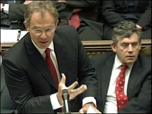 Tony Blair, at the microphone in 2004,  is credited with giving the weekly session before Parliament its current form. Toledo Mayor Carty Finkbeiner said Mr. Blair performed  maginificently,  but his successor, Gordon Brown,  right, is not as impressive.