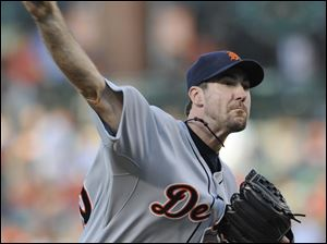 Detroit's Justin Verlander allowed three runs off nine hits in six innings over the Orioles. He leads the AL with 90 strikeouts.