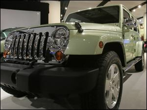 The Jeep Wrangler Unlimited EV at  the 2009 North American International Auto Show in Detroit.