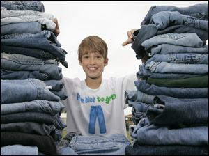 Erek Hansen of Jerusalem Township read about the effort to recycle denim into insulation in National Geographic Kids magazine.