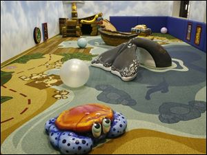 The Maumee Bay Resort s soft-play area is based on a Treasure Island theme and was built in an old racquetball court.