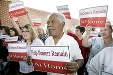 Seniors-aides-protest-planned-cuts-to-Medicaid