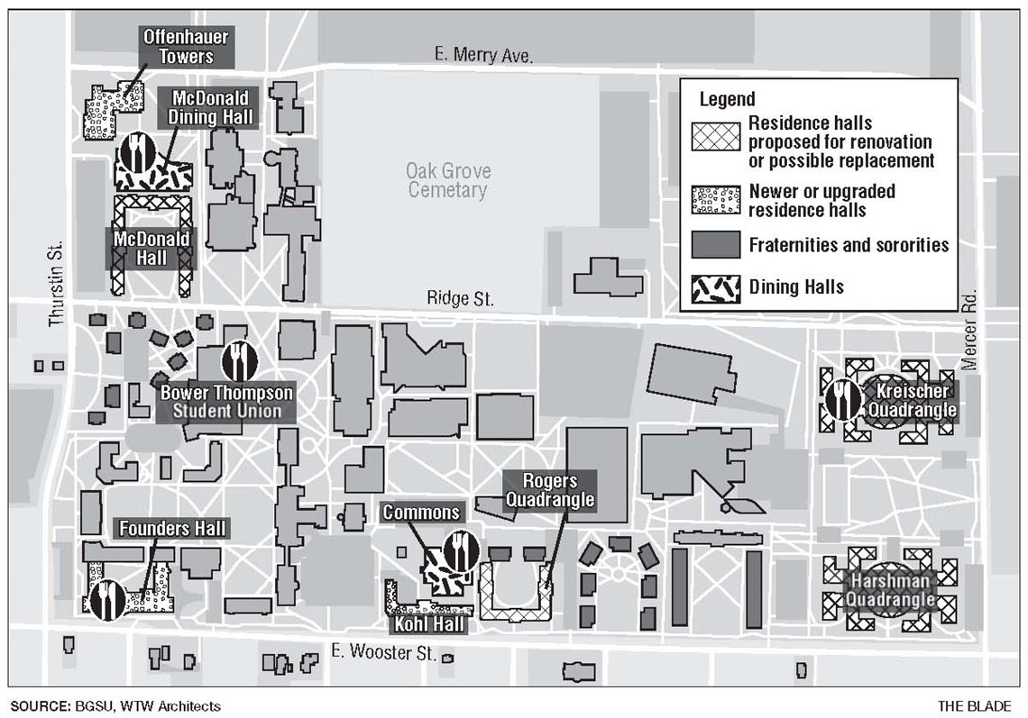 bowling green state university campus map Upgrades Planned For Bowling Green State University Housing bowling green state university campus map