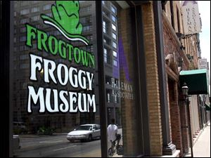 The Frogtown Froggy Museum, on Water Street in Fort Industry Square, was stocked mostly from secondhand shops.