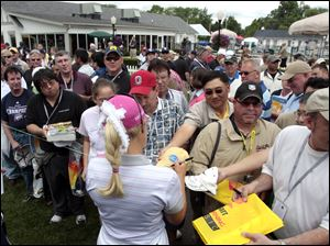 Thousands of fans flock to Highland Meadows Golf Club in Sylvania each year to see Natalie Gulbis and her fellow LPGA professionals, but the tournament's future is up in the air.