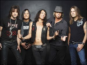 Ratt today: Warren DeMartini, Carlos Cavazo, Stephen Pearcy, Bobby Blotzer, and Robbie Crane. The band will be in town for a show Saturday at Toledo Harley Davidson.