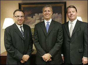 The founders of Waterford Bank are, from left, Lawrence Boyer, executive vice president; Michael Miller, chairman and chief executive officer, and Michael White, president and chief operating officer.