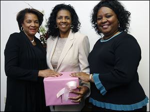 Menthal Bowden, left, Deborah Barnett, and Dianne Virgil at a benefit for Race for the Cure.