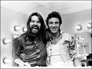 Bob Seger with Bruce Springsteen at the former Pine Knob Music Theatre at Clarkston, Mich., on Sept. 2, 1978.