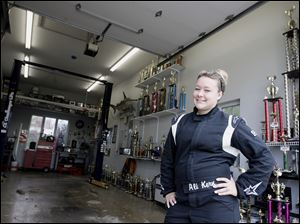 Ali Kern, a student at Ross High School, has a garage full of trophies she has won over the course of her 10 years in racing.