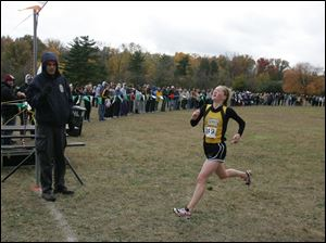Northview's Meredith Wagner won in District 2 by almost a minute over Alexandra Aughenbaugh.