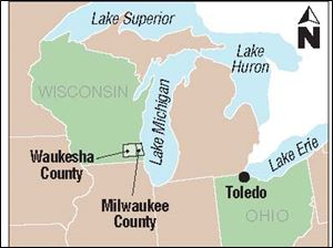 Waukesha, west of Milwaukee, is
