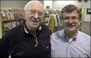 Leo Yourist, left, pictured in 2003; he opened his downtown store more than four dec-ades ago. Daryl Yourist has worked in the retail book business since he was 14 years old.