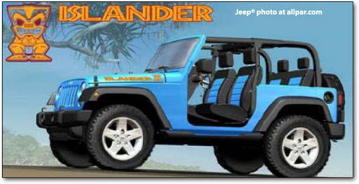jeep islander due for rerun in 2010 wrangler version to. Black Bedroom Furniture Sets. Home Design Ideas
