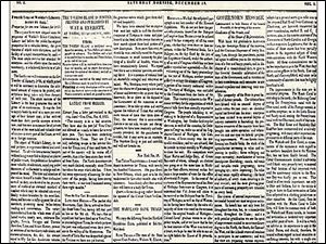 The first Toledo Blade was published Dec. 19, 1835, with news from as far away as France. On the Washington front, the paper reported: 'Little has been done as yet in Congress.' The paper advised that its publisher, a medical doctor, could be reached by day at the newspaper office and through the night at the Mansion House Hotel.