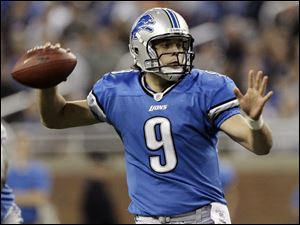 Matthew Stafford threw 13 TDs and led the Lions to two wins before getting hurt.