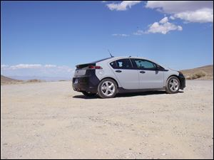 A Chevy Volt in Death Valley, California.