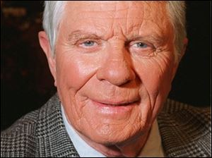 In this May 22, 1996 file photo, actor Peter Graves says he wasn't asked to portray his signature role in the film remake of ``Mission Impossible,'' the big-budget movie starring Tom Cruise. Graves said in the New York Daily News, Sunday, May 26, 1996, he wouldn't like to play Phelps as the bad guy. Graves' publicist, Sandy Brokaw, says the actor died Sunday shortly after returning to his Los Angeles home from brunch with his family. He was 83.