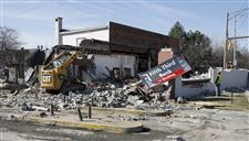 Bank-branch-razed-in-Polish-Village