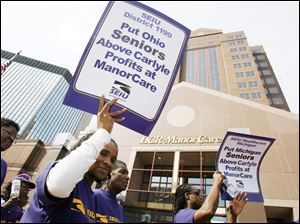 The Service Employees International Union marched in front of company headquarters in 2007 to question what patient care might be after the buyout. A union spokesman acknowledges that the labor group has not monitored the issue since the company was taken over.