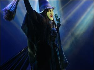 Marcie Dodd as the green witch, Elphaba.