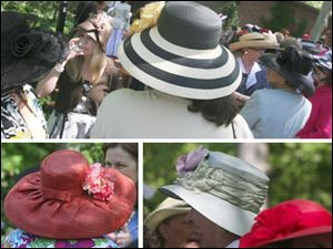Luncheon attendees sported beautiful headwear.