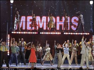 Cast members from 'Memphis' perform at the Tony Awards in New York. The show took top musical, score and book honors.