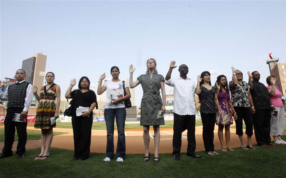 New-citizens-introduced-at-baseball-game