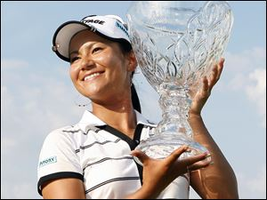 Ai Miyazato took over the top ranking on the LPGA tour after winning the ShopRite LPGA Classic.