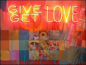 'Give Get Love' by Phillip Hazard, is in 20 North Gallery's New Works/Old Friends show.