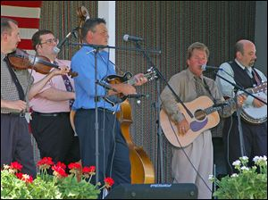 Rick Prater and the Midnight Travelers perform Saturday at Sauder Village in Archbold, Ohio.
