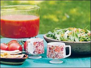 Summertime Gazpacho and Hungarian Spinach Salad.