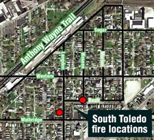 Firefighters-battle-two-overnight-blazes-in-S-Toledo