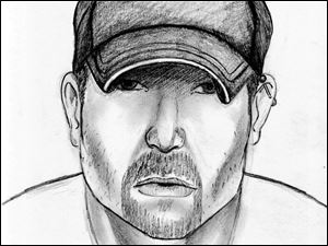 Police have released this sketch of the man suspected in a series of stabbings.